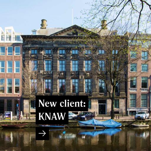 New client: Koninklijke Nederlandse Akademie van Wetenschappen